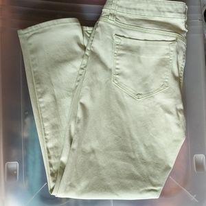 Pastel green skinny jeans